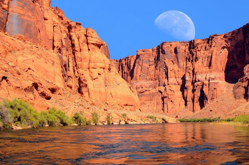 Φεγγάρι ποταμών του Κολοράντο στοκ εικόνες με δικαίωμα ελεύθερης χρήσης