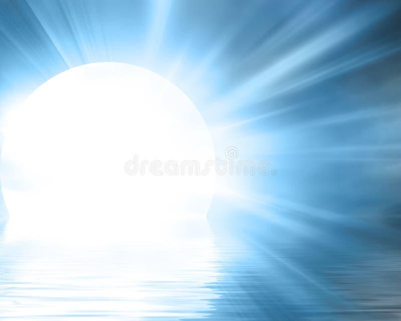 Φεγγάρι που βυθίζει στον ωκεανό ελεύθερη απεικόνιση δικαιώματος