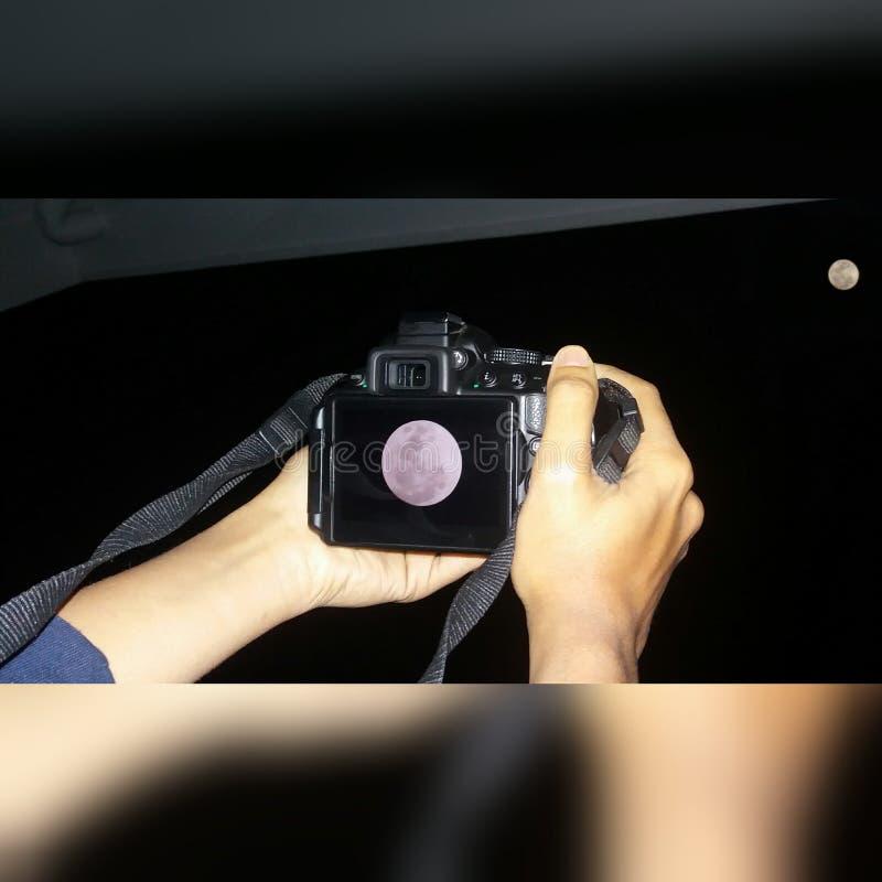 Φεγγάρι που χτυπιέται στοκ εικόνες