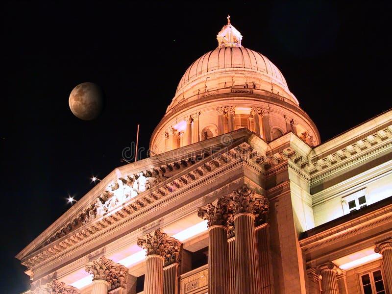 Download φεγγάρι Σινγκαπούρη στοκ εικόνες. εικόνα από ουρανός, δικαστήριο - 124944