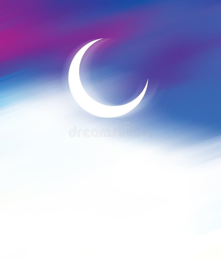 Φεγγάρι του Mubarak eid Ramadan kareem ημισεληνοειδές διανυσματική απεικόνιση