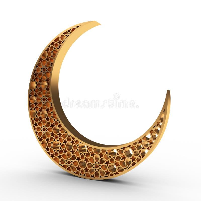 Φεγγάρι Arabesque διανυσματική απεικόνιση