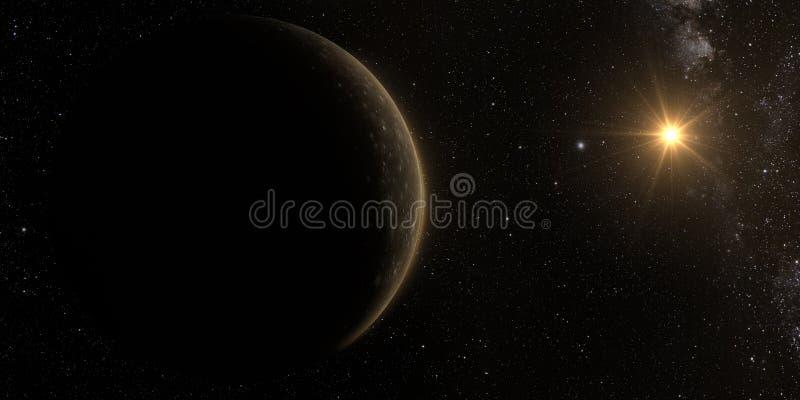 Φεγγάρι Callisto Δία στοκ εικόνες