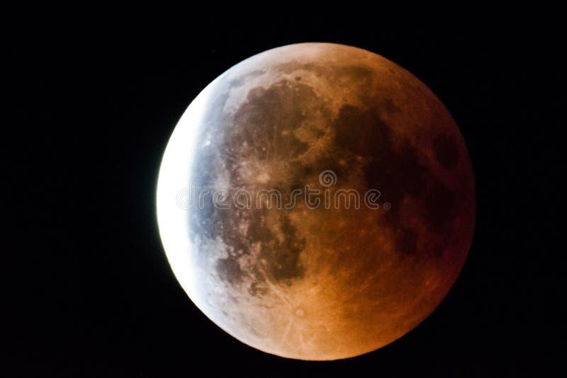 Φεγγάρι Penumbral 27 Ιουλίου 2018 στοκ φωτογραφία με δικαίωμα ελεύθερης χρήσης