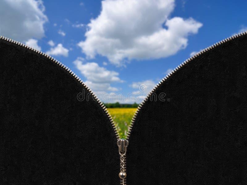 Φερμουάρ και αγροτικό τοπίο άνοιξη στοκ φωτογραφία με δικαίωμα ελεύθερης χρήσης