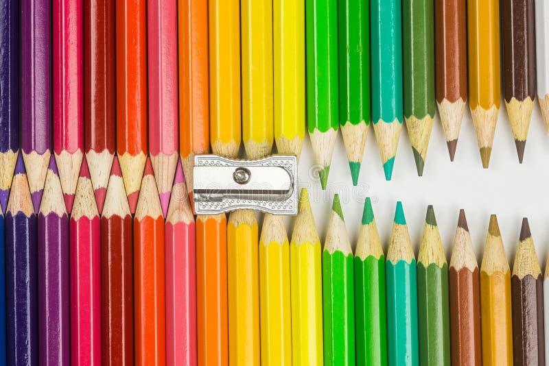 Φερμουάρ μολυβιών στοκ εικόνες