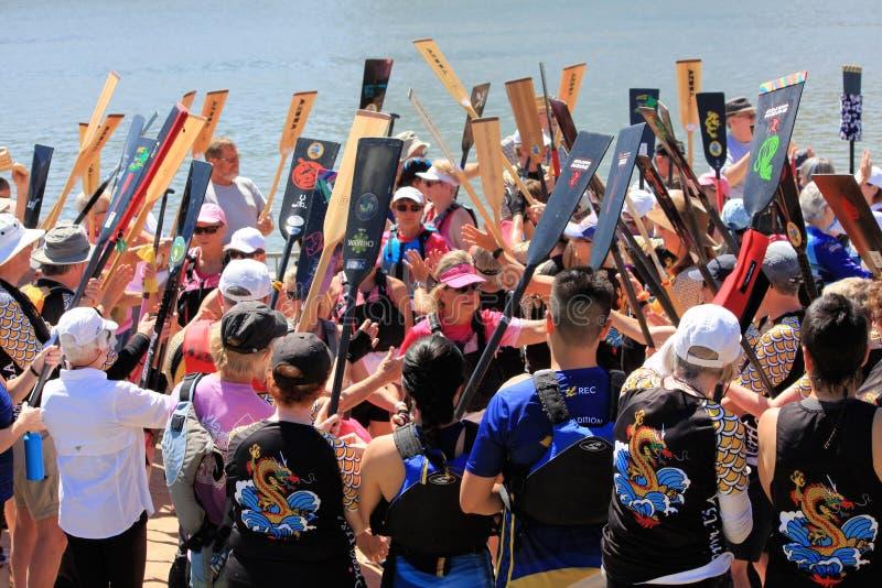 Φεστιβάλ βαρκών δράκων στην πόλης λίμνη Αριζόνα 2019 Tempe στοκ φωτογραφία με δικαίωμα ελεύθερης χρήσης