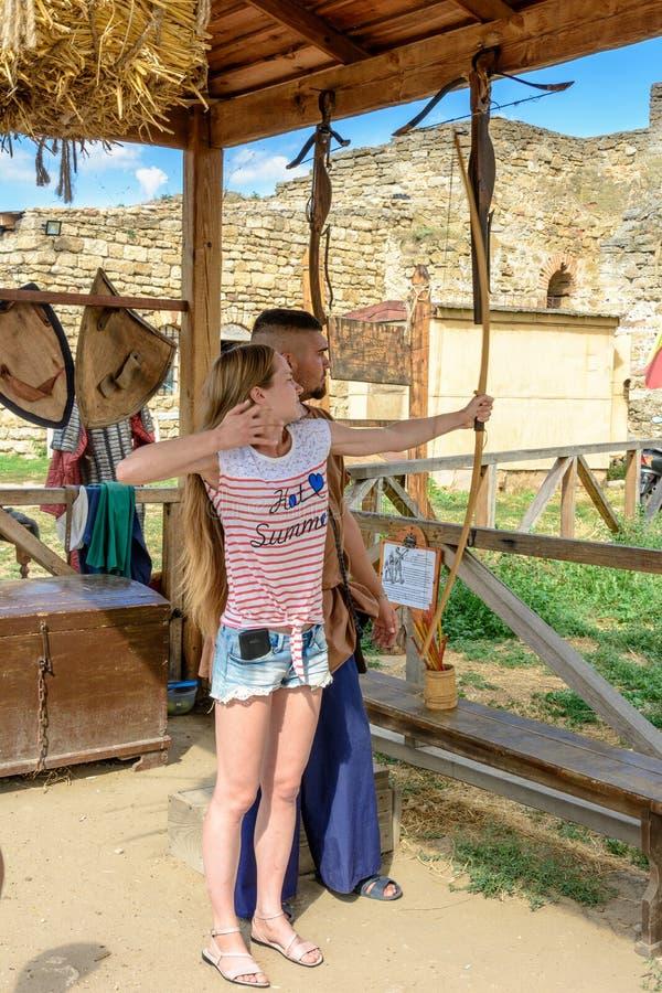Φεστιβάλ στο φρούριο Akerman Bilgorod-Dnistrovsky, Ουκρανία, στις 24 Αυγούστου 2017 στοκ εικόνες
