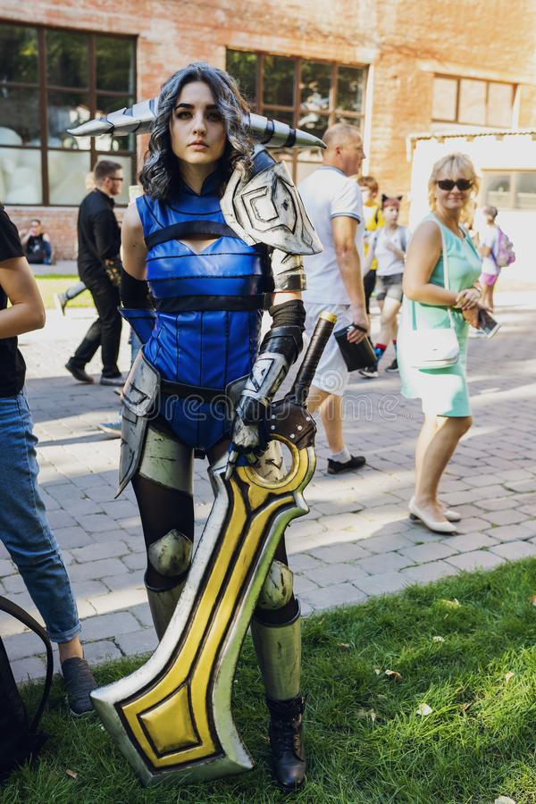 Φεστιβάλ του σύγχρονου κουλτούρα ποπ ΚΩΜΙΚΟ CON Ουκρανία στις 22 Σεπτεμβρίου 2018 Κίεβο, Ουκρανία, στοκ φωτογραφίες με δικαίωμα ελεύθερης χρήσης