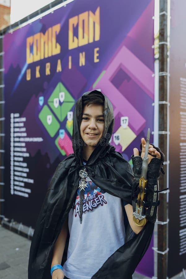 Φεστιβάλ του σύγχρονου κουλτούρα ποπ ΚΩΜΙΚΟ CON Ουκρανία στις 22 Σεπτεμβρίου 2018 Κίεβο, Ουκρανία, πλατφόρμα εγκαταστάσεων τέχνης στοκ εικόνες