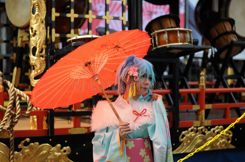 Φεστιβάλ των μαγειρικών τεχνών και πολιτισμός της Ιαπωνίας στοκ εικόνες