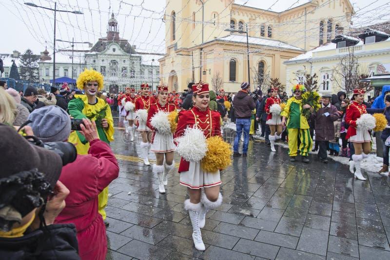 Φεστιβάλ των majorettes στην οδό στοκ φωτογραφίες με δικαίωμα ελεύθερης χρήσης
