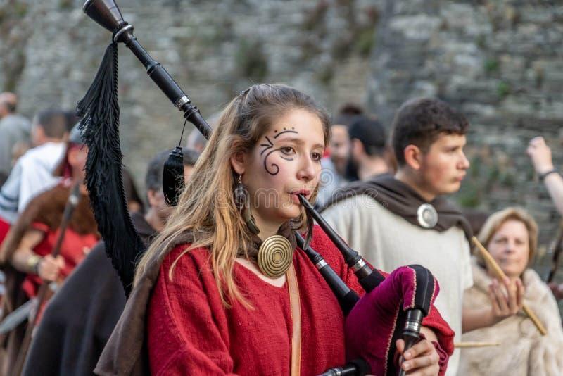 Φεστιβάλ Arde Lucus στοκ εικόνες