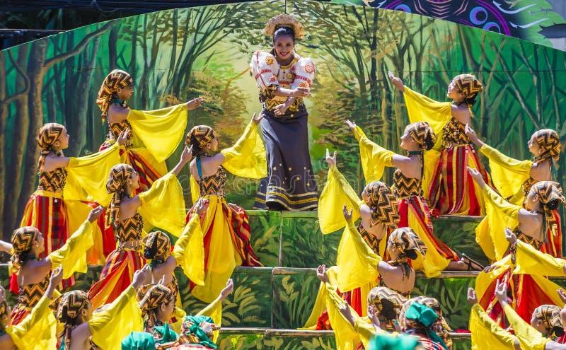 2018 φεστιβάλ Dinagyang στοκ εικόνες