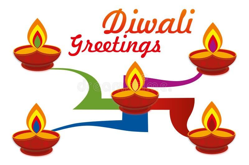Φεστιβάλ Diwali Diya απεικόνιση αποθεμάτων