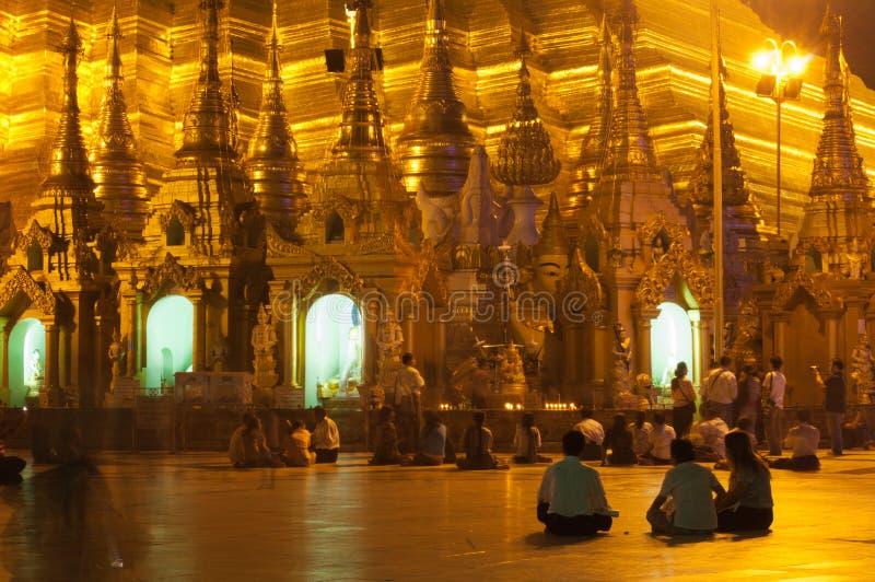 Φεστιβάλ Myanmar 25 Φεβρουαρίου shwedagon yangon στοκ εικόνα με δικαίωμα ελεύθερης χρήσης