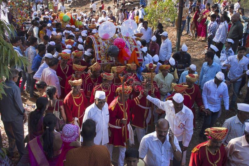 Φεστιβάλ Palki Chiplun στοκ εικόνες με δικαίωμα ελεύθερης χρήσης