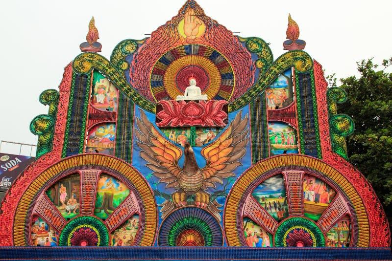 Φεστιβάλ Pettah 2018 Vesak - Colombo - Σρι Λάνκα στοκ εικόνες