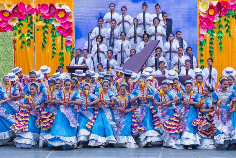 2018 φεστιβάλ Sinulog στοκ εικόνες