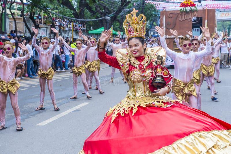 2018 φεστιβάλ Sinulog στοκ φωτογραφία