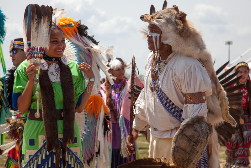 Φεστιβάλ αμερικανών ιθαγενών Powwow στοκ εικόνες