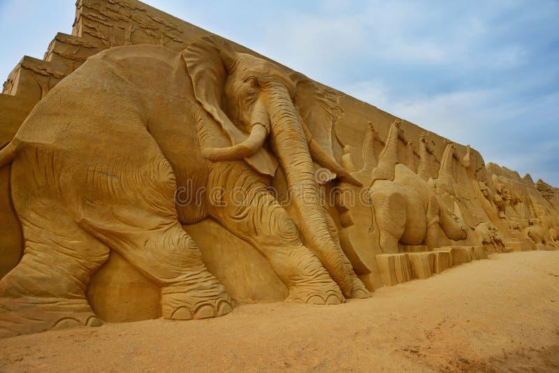 Φεστιβάλ γλυπτών άμμου στοκ φωτογραφίες