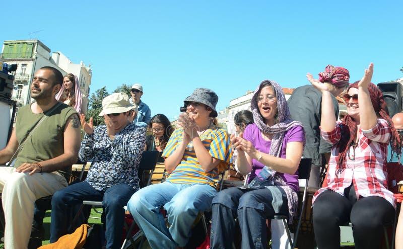 Φεστιβάλ εκατό τυμπάνων την ημέρα εργαζομένων στοκ εικόνα με δικαίωμα ελεύθερης χρήσης