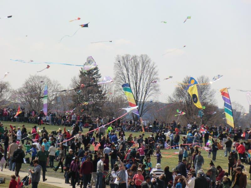 Φεστιβάλ ικτίνων ανθών του Washington DC στοκ φωτογραφία
