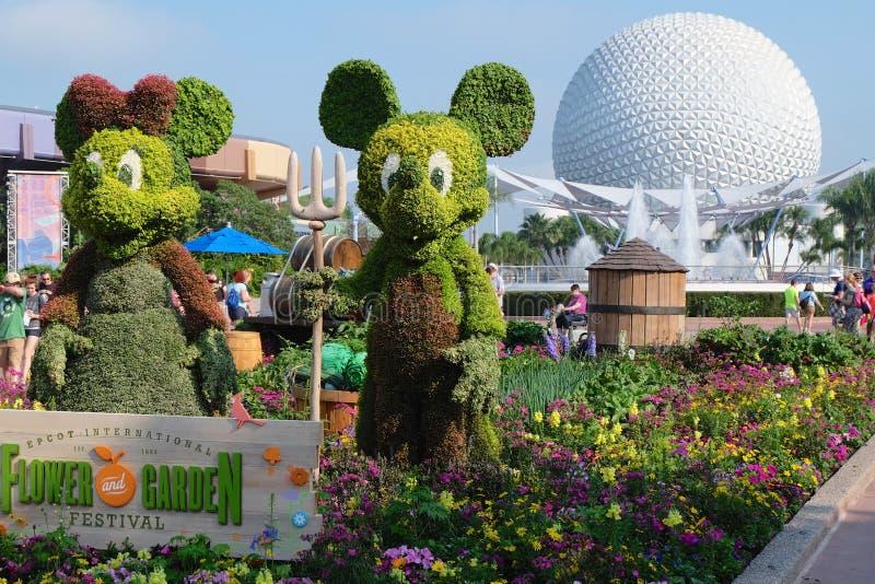 Φεστιβάλ κήπων λουλουδιών σε Epcot στοκ εικόνα