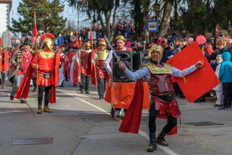 Φεστιβάλ καρναβαλιού Ptuj Kurents στοκ εικόνες