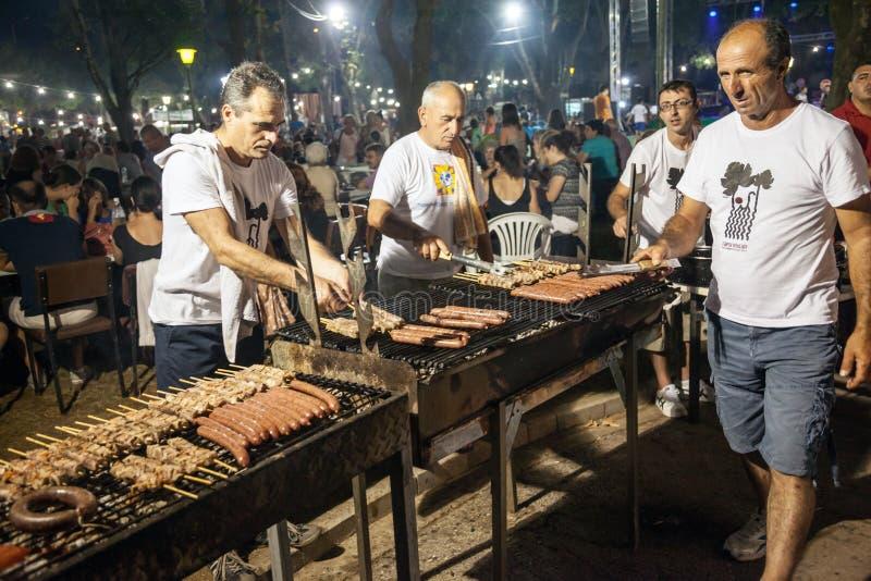 Φεστιβάλ 2014 κρασιού σε Alexandroupolis - την Ελλάδα στοκ εικόνα
