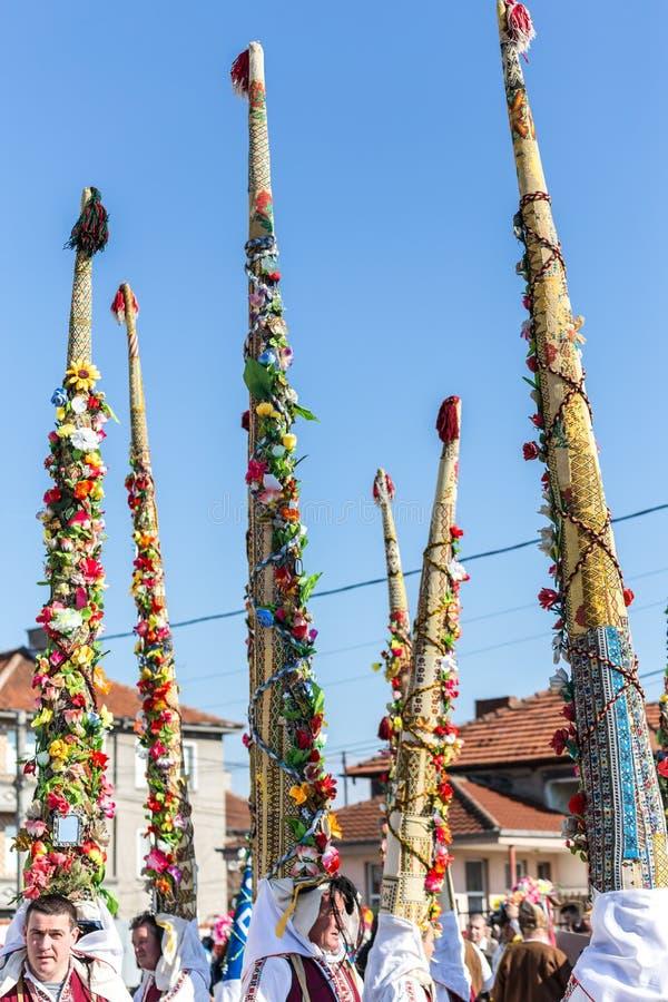 Φεστιβάλ μεταμφιέσεων Kukeri στοκ εικόνα