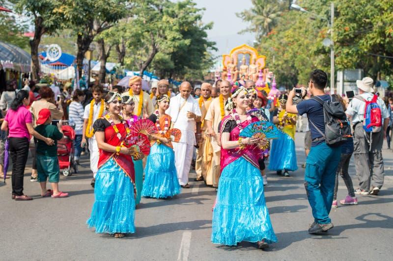Φεστιβάλ λουλουδιών της Mai Chiang, Ταϊλάνδη στοκ εικόνα