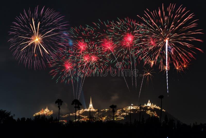 Φεστιβάλ πυροτεχνημάτων σε Phetchaburi, Ταϊλάνδη στοκ εικόνες με δικαίωμα ελεύθερης χρήσης