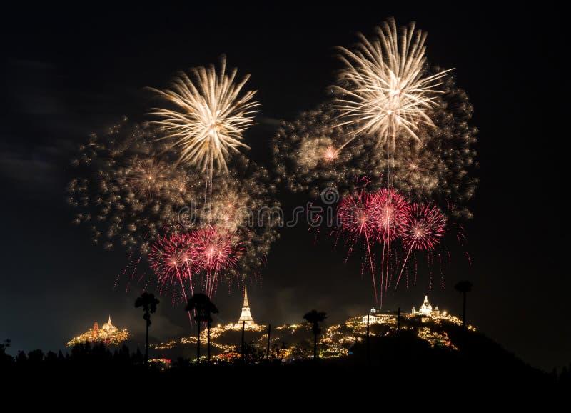 Φεστιβάλ πυροτεχνημάτων σε Phra Nakhon Khiri (Khao WANG), Phetchaburi στοκ φωτογραφία με δικαίωμα ελεύθερης χρήσης