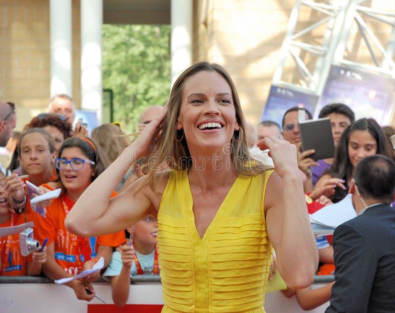 Φεστιβάλ 2011 ταινιών Al Giffoni της Hilary Swank στοκ φωτογραφία