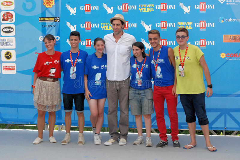Φεστιβάλ 2013 ταινιών Al Giffoni Cohen βαρώνων της Sacha στοκ φωτογραφία με δικαίωμα ελεύθερης χρήσης