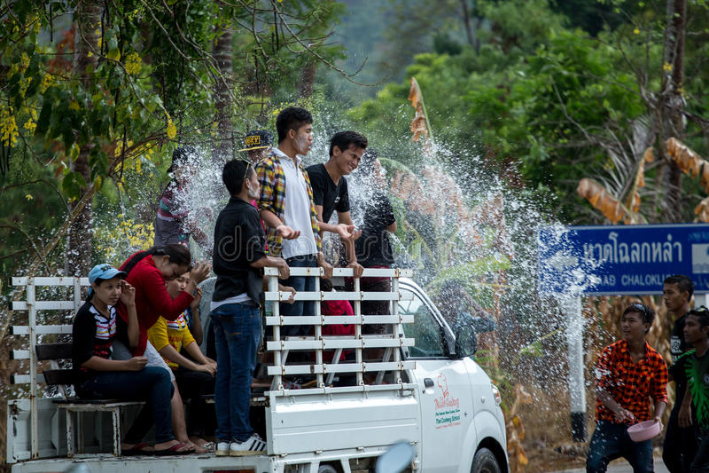 Φεστιβάλ Ταϊλάνδη Songkran στοκ φωτογραφία με δικαίωμα ελεύθερης χρήσης