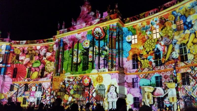 Φεστιβάλ του Βερολίνου των φω'των 2016 στοκ φωτογραφία με δικαίωμα ελεύθερης χρήσης