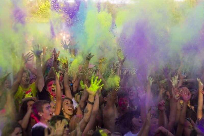 Φεστιβάλ των χρωμάτων Holi στοκ εικόνες με δικαίωμα ελεύθερης χρήσης