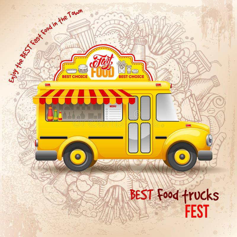 Φεστιβάλ φορτηγών τροφίμων απεικόνιση αποθεμάτων