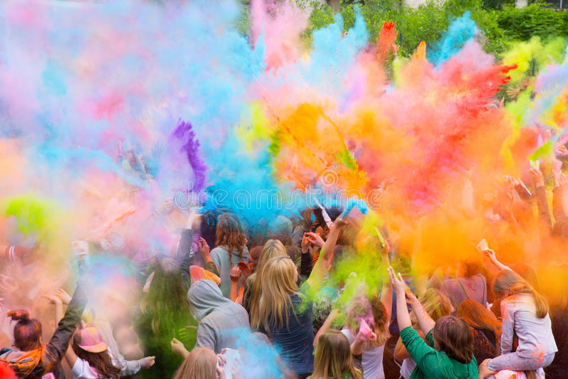 φεστιβάλ χρωμάτων στοκ φωτογραφίες με δικαίωμα ελεύθερης χρήσης