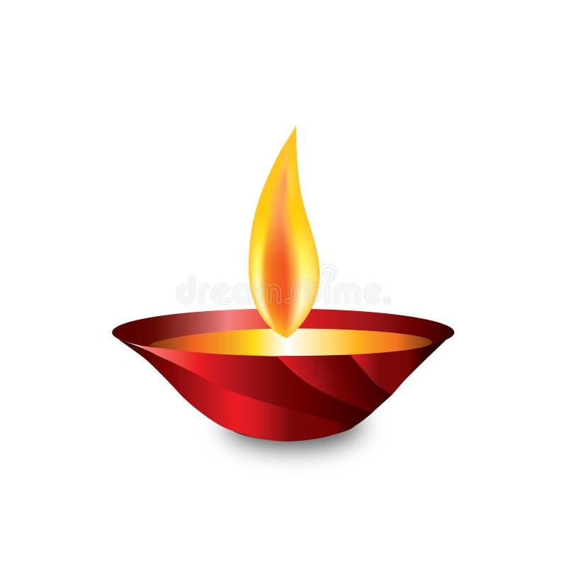 Φεστιβάλ Diwali Diya διανυσματική απεικόνιση