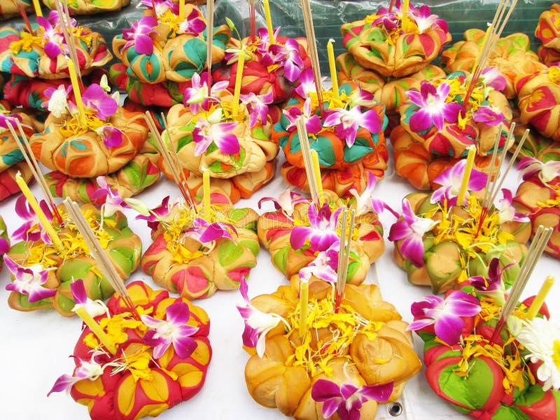 Φεστιβάλ Krathong Loy, ταϊλανδικά στοκ φωτογραφία με δικαίωμα ελεύθερης χρήσης