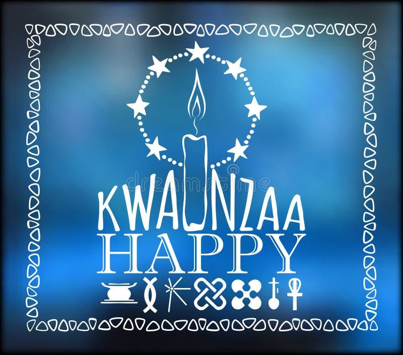 Φεστιβάλ Kwanzaa πρόσθετες διακοπές μορφής καρτών απεικόνιση αποθεμάτων
