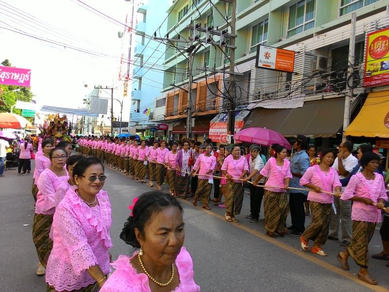Φεστιβάλ Suratthani Ταϊλάνδη Pra Chak στοκ φωτογραφία με δικαίωμα ελεύθερης χρήσης