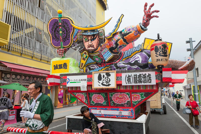 Φεστιβάλ Tachi Neputa Goshogawara (μόνιμο επιπλέον σώμα) στοκ εικόνες με δικαίωμα ελεύθερης χρήσης