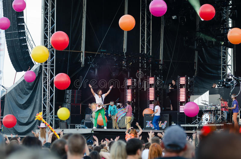Φεστιβάλ Topfest 2015, Piestany, Σλοβακία μουσικής στοκ φωτογραφίες με δικαίωμα ελεύθερης χρήσης
