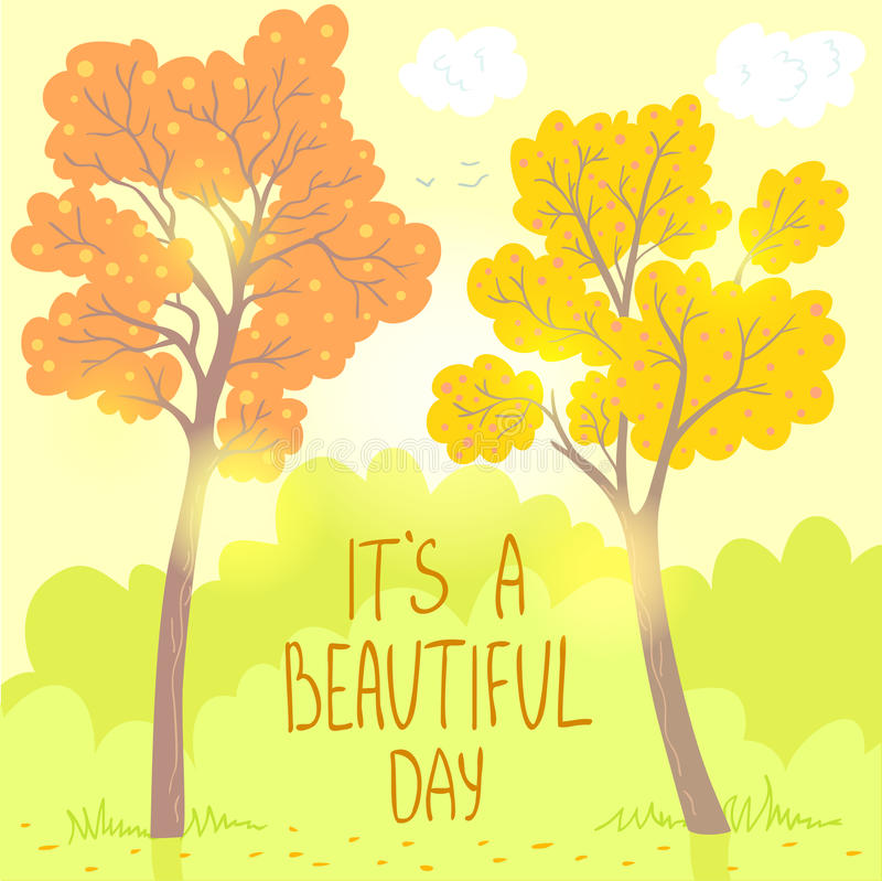 Φθινόπωρο δέντρων διανυσματική απεικόνιση
