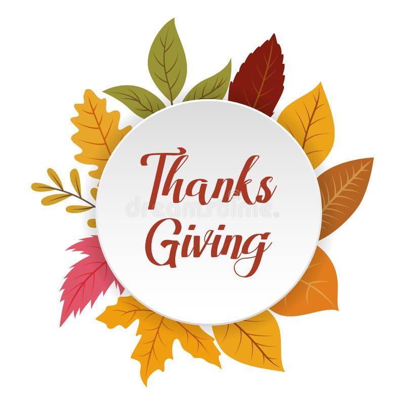 Φθινόπωρο, πτώση, ημέρα των ευχαριστιών γύρω από το υπόβαθρο πλαισίων κύκλων διανυσματική απεικόνιση